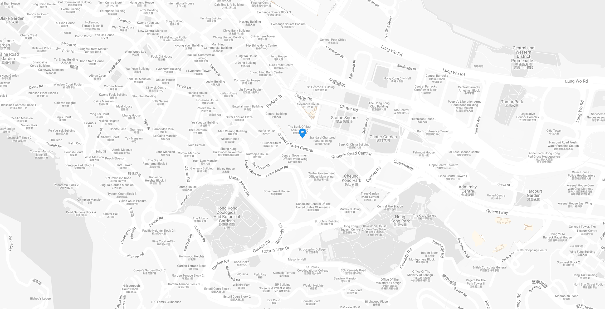 Map of Hong Kong location