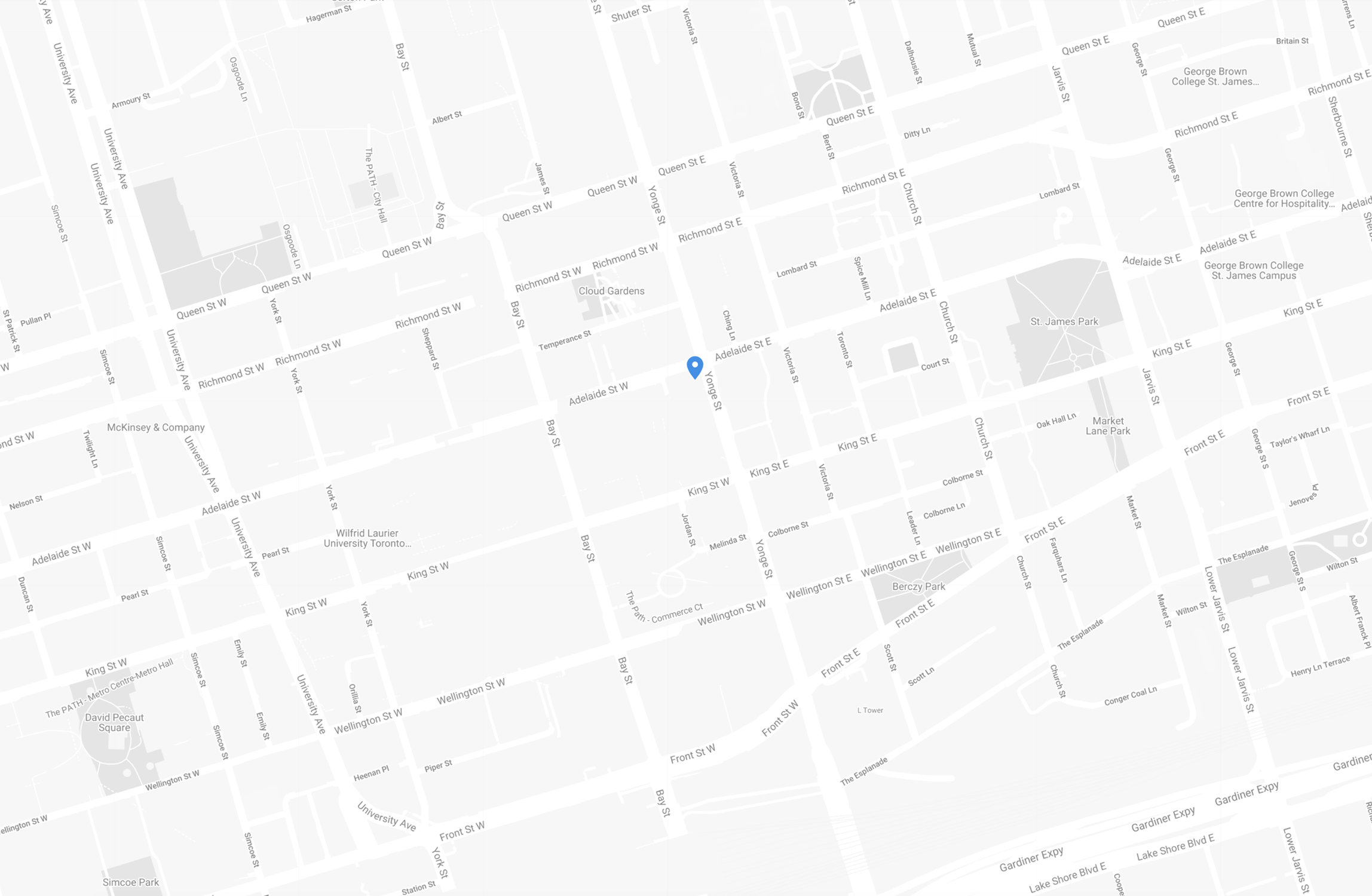 Map of Toronto Fiera Capital location