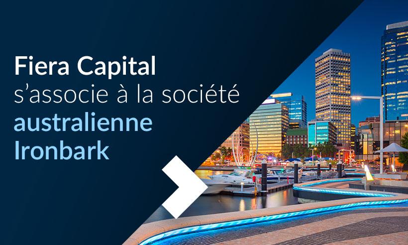 Fiera Capital s'associe à la société australienne Ironbark