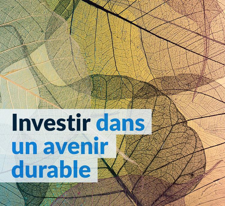 Rapport d'investissement responsable 2020 - Investir dans un avenir durable